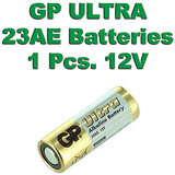 23A GP Battery 1 Piece Pack. 12V Alkaline Battery.