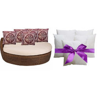 Sweet Home Pack Of 5 Designer Cushion And 5 Filler (10 Pieces Set) - Option 2