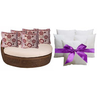 Sweet Home Pack Of 5 Designer Cushion And 5 Filler (10 Pieces Set) - Option 3