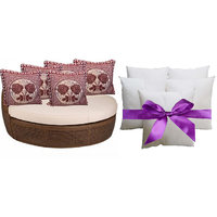 Sweet Home Pack Of 5 Designer Cushion And 5 Filler (10 Pieces Set) - Option 4