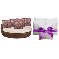 Sweet Home Pack Of 5 Designer Cushion And 5 Filler (10 Pieces Set) - Option 5