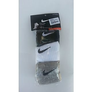 Nike Double Padded Cotton Ankle Socks Set Of 3