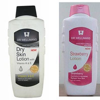 Body Lotion - Dry Skin, Strawbery  Lotion  650ml Each Bottle By DR WELLMANS