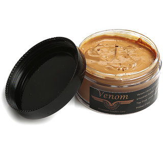 Venom High gloss Leather Shoe Cream(Tan)