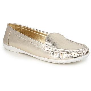 Naisha Women Gold Slip on Casual Shoes