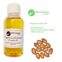 Organic Cold pressed Castor oil for natural hair growth and skin care - 250 ml