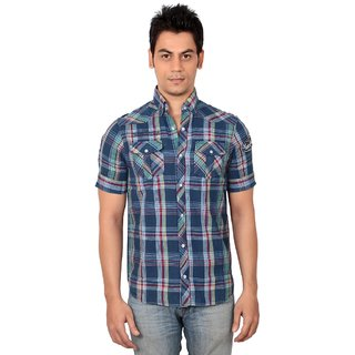 Navy Summer Casual Shirt (Large)