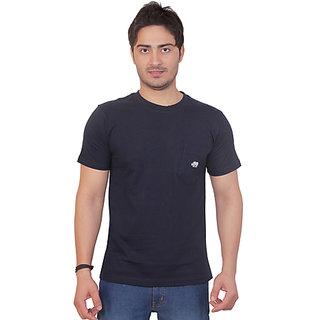 Rynos Round Neck T-shirt (Navy blue) (XL)