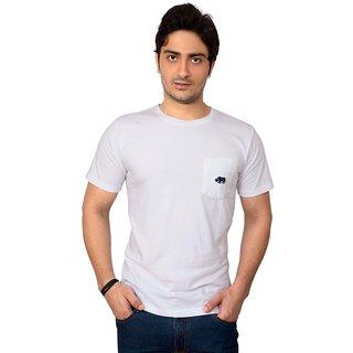 Rynos Round Neck T-shirt (White) (Large)
