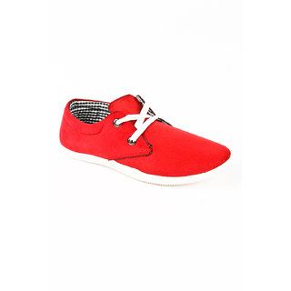 BNG Men's Red Stylish Casual Shoes