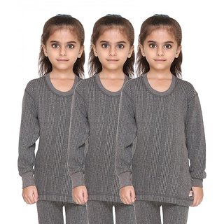 Vimal Premium Blended Grey Thermal Top For Boys(Pack Of 3)