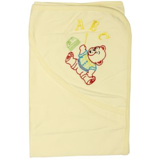 Wonderkids ABC Print Baby Hooded Blanket (0 to 9 months)