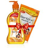 Santoor Hand Wash And Refill Pack Combo