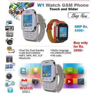 Kenxinda W1 Watch Mobile Dual Sim Free Bluetooth Headset