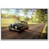 Vintage Car On Road Poster By Artifa