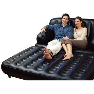 Air Sofa Cum Bed Love Seat 5 in 1+ Free Mini Massager