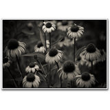 Flowers Black And White Poster By Artifa