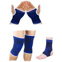Pickadda Combo of Knee, Palm, Ankle Supports for fitness