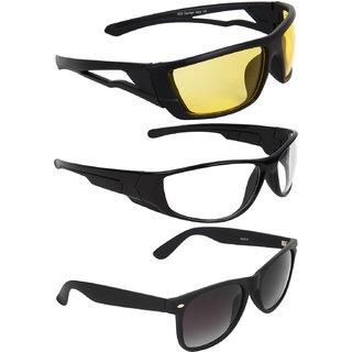 Zyaden Black UV Protection Unisex Wrap-around Sunglass
