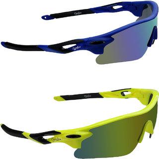Zyaden Yellow UV Protection Unisex Sports Sunglass