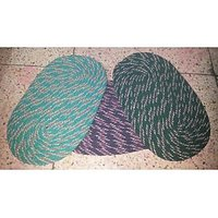 Set Of 3 Oval Shape Both Side Use-able Rusty Cotton Door Mat