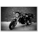 Ducati Super Bike Black And White Poster By Artifa