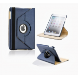 Callmate 360 Rotating Leather Cover Case For IPad Mini  With Free Screen Guard - Dark Blue