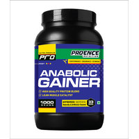 Proence Pro Anabolic Gainer 1kg Chocolate Flavour (free Shaker)