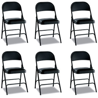 Gioteak Folding chair in black color 6 set
