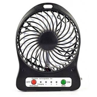 Portable Mini Rechargeable USB Fan Table Fan available at ShopClues for Rs.388