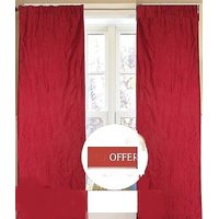 CURTAINS MAROON COLOUR DOOR CURTAINS NO 1 QLTY CRUSH MATERIAL MADE DOOR SCREENS