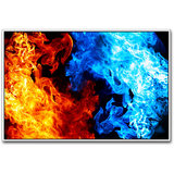 Blue And Yellow Flames Poster By Artifa