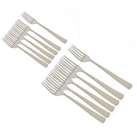 National Stainless Steel Dessert And Master Forks 6 Pieces