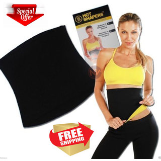 Hot Shapers Slimming Belt Neoprene Hot Waist Belt Hot Slim Body for Fitness Free Size