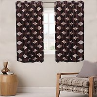 Sweet Home 1 Piece Set Of Beautiful Eyelet Window Curtain - Kn3336