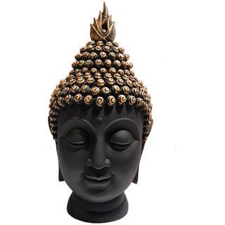 HEERAN ART Polyresin Buddha Head Figurine (10.5 cm x 7 cm x 13 cm GLB