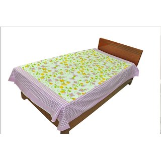 Designer Exclusive Floral Print King Size Single Bed Sheet SRB2116
