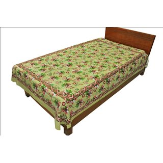 Designer Exclusive Ethinic Floral Print King Size Single Bed Sheet SRB2122