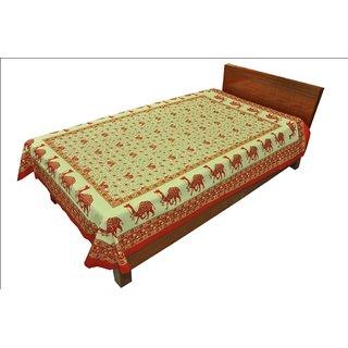 100 Cotton Traditional Animal print Single Bed Sheet SRB2126