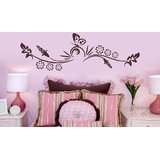 Brown Corn And Butterfly Wall Sticker