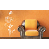 Daffodil And Butterfly Wall Sticker