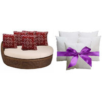 Combo Pack Of 5 Designer Cushion Cover & Fillers 16x16 Inch - Jp01