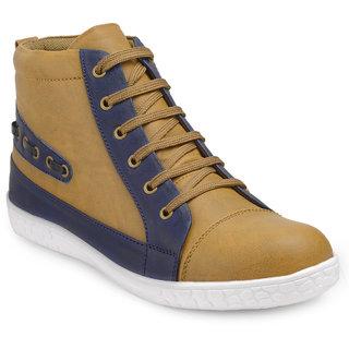 Juan David Mens Tan & Navy Blue Lace Up Causal Shoes