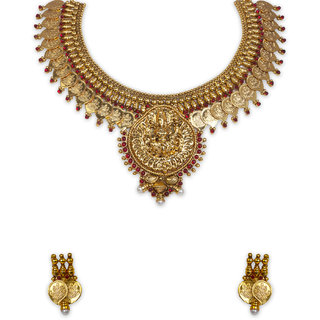 The Gold Plated Mango Design Necklace-10