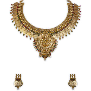 The Gold Plated Mango Design Necklace-11