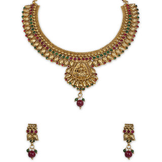 The Gold Plated Mango Design Necklace-12