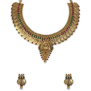 The Gold Plated Mango Design Necklace-19