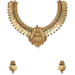 The Gold Plated Mango Design Necklace-24