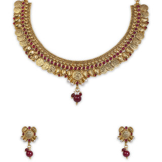 The Gold Plated Mango Design Necklace-30