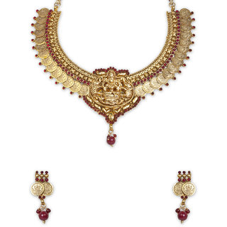 The Gold Plated  Lakshmi  Necklace-3